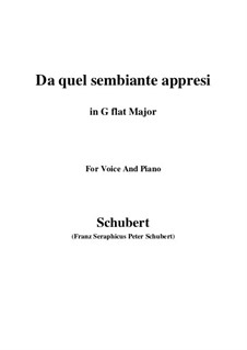 Four Canzones for Voice and Piano, D.688: No.3 Da quel sembiante appresi (G flat Major) by Franz Schubert