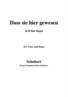 Dass sie hier gewesen, D.775 Op.59 No.2: para voz e piano em B flat Maior) by Franz Schubert