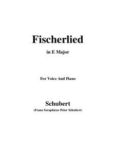 Fischerlied (Fisherman's Song), D.351: E Major by Franz Schubert