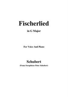 Fischerlied (Fisherman's Song), D.351: G maior by Franz Schubert