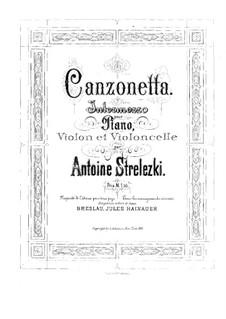 Canzonetta for Piano Trio: partitura completa by Anton Strelezki