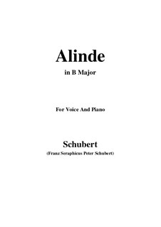 Alinde, D.904 Op.81 No.1: B Major by Franz Schubert
