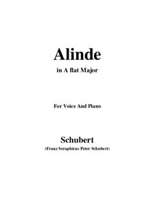 Alinde, D.904 Op.81 No.1: A flat Major by Franz Schubert