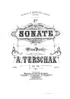 Sonata No.3 in F Major for Flute and Piano, Op.175: Sonata No.3 in F Major for Flute and Piano by Adolf Terschak