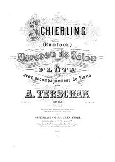 Schierling. Morceau de salon, Op.146: Score by Adolf Terschak
