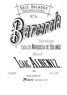 Six Balladas: set completo by Isaac Albéniz