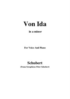 Von Ida, D.228: A minor by Franz Schubert