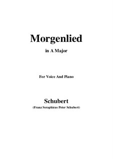 Morgenlied (Morning Song), D.381: A maior by Franz Schubert