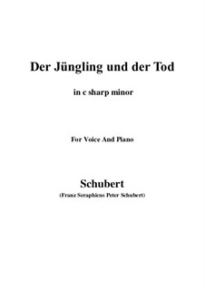 Der Jüngling und der Tod (The Youth and Death), D.545: C sharp minor by Franz Schubert