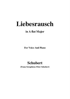Liebesrausch, D.179: A flat Major by Franz Schubert