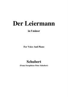 No.24 Der Leiermann (The Organ Grinder): For voice and piano (f minor) by Franz Schubert
