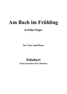 Am Bach im Frühling (By the Brook in Spring), D.361 Op.109 No.1: D flat Major by Franz Schubert