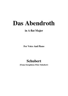 Das Abendrot (Sunset), D.627 Op.173 No.6: A flat Major by Franz Schubert