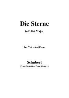 Die Sterne (The Stars), D.684: D flat Major by Franz Schubert