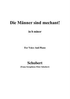 Vier Refrain-Lieder, D.866 Op.95: No.3 Die Männer sind méchant (b minor) by Franz Schubert