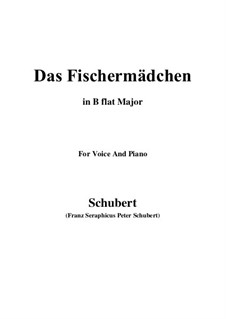 No.10 Das Fischermädchen (The Fisher-Maiden): para voz e piano em B flat Maior) by Franz Schubert