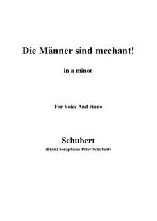 Vier Refrain-Lieder, D.866 Op.95: No.3 Die Männer sind méchant (a minor) by Franz Schubert