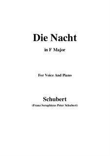 Die Nacht (The Night), D.358: F Maior by Franz Schubert
