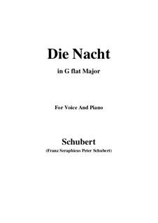 Die Nacht (The Night), D.358: G flat Major by Franz Schubert
