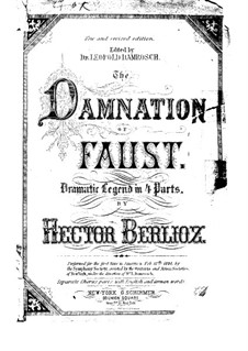The Damnation of Faust, H.111 Op.24: Partitura piano-vocal by Hector Berlioz