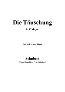 Die Täuschung (The Deception), Op.165 No.4: C maior by Franz Schubert
