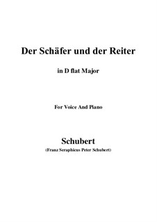 Der Schäfer und der Reiter (The Shepherd and the Horseman), D.517 Op.13 No.1: For voice and piano (D flat Major) by Franz Schubert