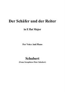 Der Schäfer und der Reiter (The Shepherd and the Horseman), D.517 Op.13 No.1: para voz e piano (E flat maior) by Franz Schubert