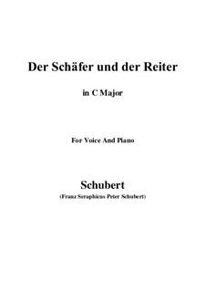 Der Schäfer und der Reiter (The Shepherd and the Horseman), D.517 Op.13 No.1: For voice and piano (C Major) by Franz Schubert
