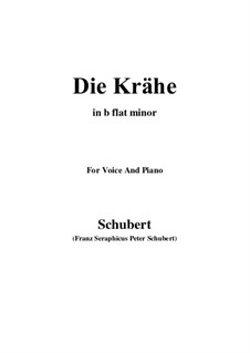 No.15 Die Krähe (The Crow): For voice and piano (b flat minor) by Franz Schubert