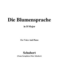 Die Blumensprache (The Language of Flowers), D.519: D maior by Franz Schubert