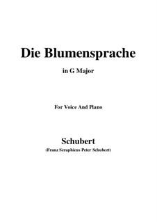 Die Blumensprache (The Language of Flowers), D.519: G maior by Franz Schubert