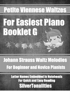 Petite Viennese Waltzes for Easiest Piano: Booklet G by Johann Strauss (Sohn)