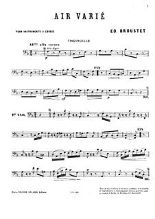 Air varié: parte violoncelo by Édouard Broustet