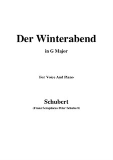 Der Winterabend (The Winter Evening), D.938: G maior by Franz Schubert