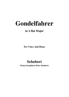 Gondelfahrer (The Gondolier), D.808: A flat Major by Franz Schubert