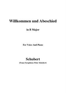 Willkommen und Abschied, D.767 Op.56 No.1: For voice and piano (B Major) by Franz Schubert