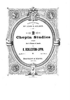 No.1 in A Flat Major: dois pianos de quatro mãos by Frédéric Chopin