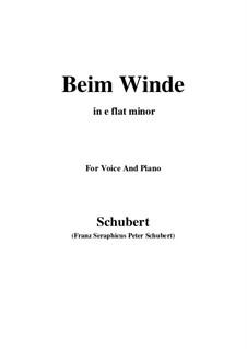 Beim Winde (When the Wind Blows), D.669: E flat minor by Franz Schubert