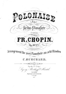 Polonaises, Op.40: No.1. Arrangement for two pianos eight hands – piano I part by Frédéric Chopin
