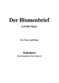 Der Blumenbrief (The Message of Flowers), D.622: para voz e piano em B flat Maior) by Franz Schubert
