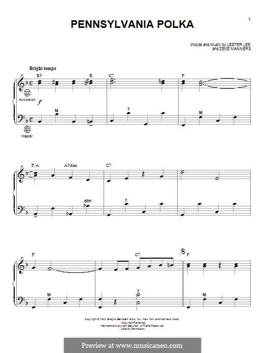 Pennsylvania Polka: para acordeão by Lester Lee, Zeke Manners