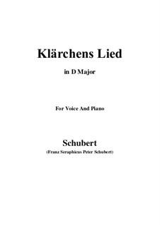 Die Liebe (Love), D.210: para voz e piano (D Maior) by Franz Schubert