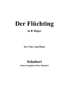 Der Flüchtling (The Fugitive), D.402: B Major by Franz Schubert