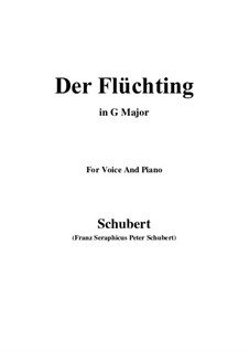Der Flüchtling (The Fugitive), D.402: G maior by Franz Schubert