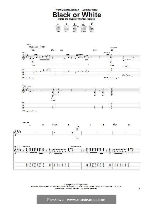 Black or White: Para guitarra com guia by Bill Bottrell, Michael Jackson