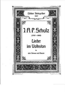 Lieder im Volkston: Lieder im Volkston by Johann Abraham Schulz