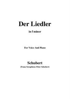 Der Liedler (The Minstrel), D.209 Op.38: F minor by Franz Schubert