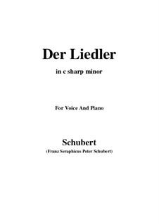 Der Liedler (The Minstrel), D.209 Op.38: C sharp minor by Franz Schubert