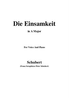 Einsamkeit (Solitude), D.620: A maior by Franz Schubert