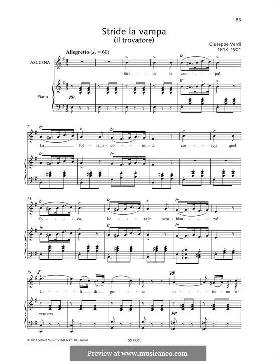 Stride la vampa: Stride la vampa by Giuseppe Verdi